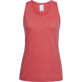 Icebreaker Sphere Tank Women poppy red hthr